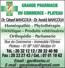 GRANDE PHARMACIE DU COMMERCE - PLATEAU