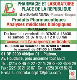 PHARMACIE ET LABORATOIRE PLACE DE LA REPUBLIQUE