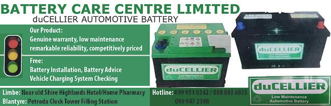 BATTERY CARE CENTRE LIMITED
