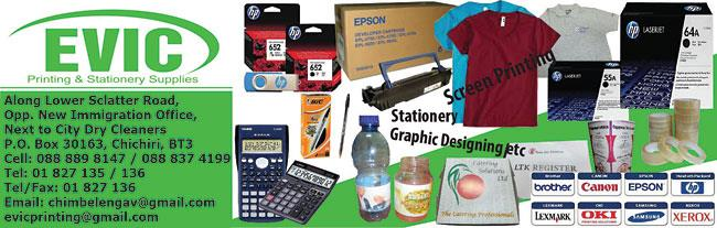 EVIC PRINTING & STATIONERY SUPPLIERS