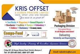 KRIS OFFSET & SCREEN PRINTERS