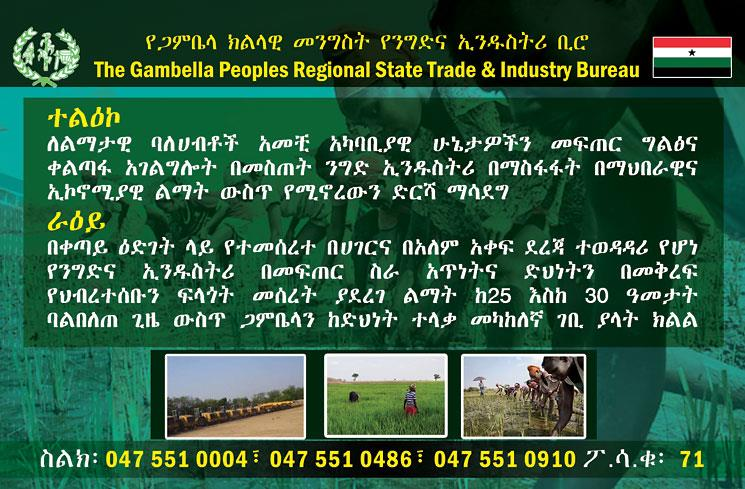 The Gambella Peoples Regional State Trade & Industry Development Bureau